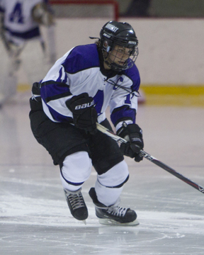 Amherst College's Geneva Lloyd netted two goals and recorded four assists, which put her over the 100-point mark in her career! (Photo Credit: Amherst College Athletics)