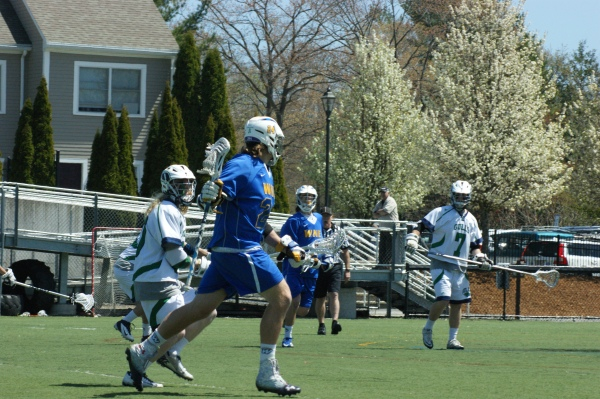 WNE's Sean Lawton (24) scored one of his team's seven goals against SUNY Cortland on Wednesday evening! (Photo Credit: Matt Noonan)