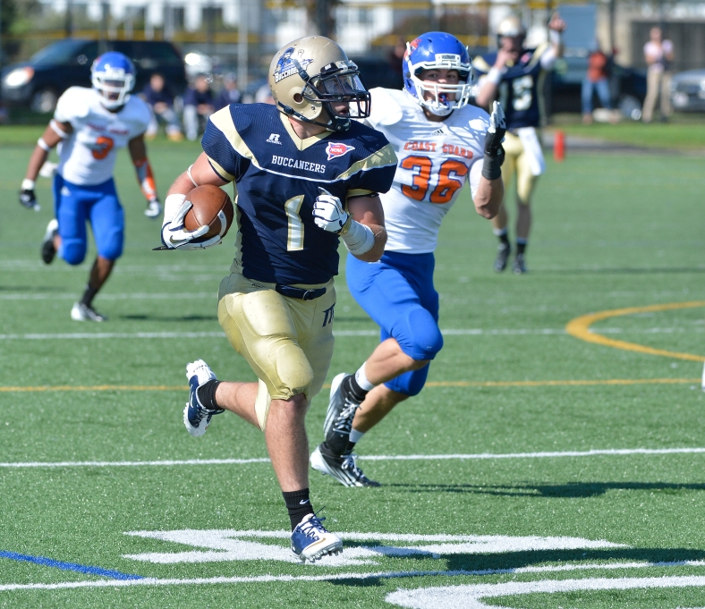 Stefan Gustafson will lead the Mass. Maritime Buccaneers into the Thursday's contest against Maritime (N.Y.)! (Photo Credit: Mass. Maritime Academy Athletics)