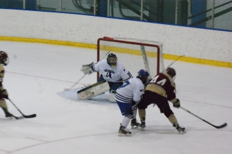 UMass Boston's men's ice hockey team will begin its quest toward an ECAC East crown on Saturday when they host University of New England. (Photo Credit: Matt Noonan for NoontimeSports.com)