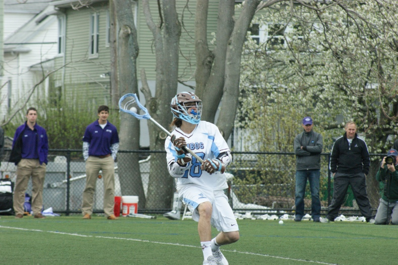 Tufts' Cole Bailey recorded nine points this evening, netting five goals and dishing out four assists. (Photo Credit: Matt Noonan/NoontimeSports.com)