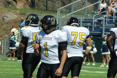 Framingham State University senior Matthew Silva accounted for all six touchdowns this afternoon in the Rams' week one victory. (Photo Credit: Matt Noonan/NoontimeSports.com)