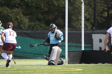 Babson College Senior Kayla Costa ranks atop the NCAA Div. III in goals against average and goals allowed. (Photo Credit: Babson College Athletics)
