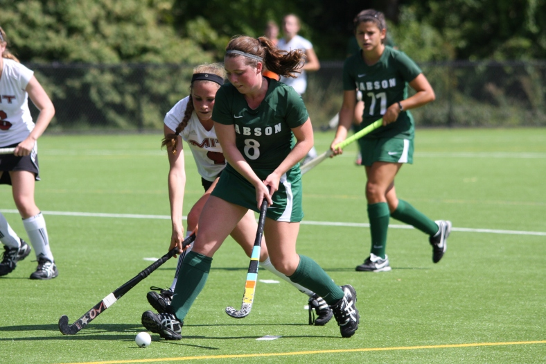 Babson College senior  Elizabeth Holmes and the Beavers offense has tallied 50 goals in 12 games. (Photo Credit: Babson College Athletics)