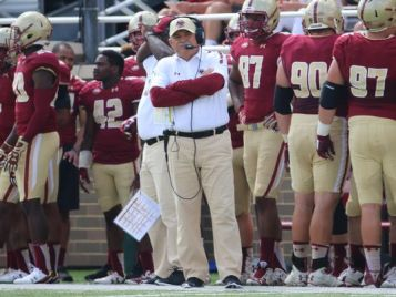 Boston College's defensive coordinator Don Brown will be the next defensive coordinator for the University of Michigan football team. (Photo Credit: The AP)