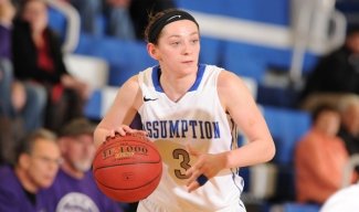 Assumption's Allison Stoddard was tabbed this week's WACBA Women's Player of the Week. (Photo Credit: Assumption College Athletics)