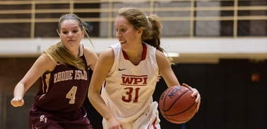 WPI's Priscilla Dunphy  was tabbed NEWMAC Tournament MVP after leading the Engineers to an exciting 60-59 victory over Babson in the conference tournament championship. (Photo Credit: WPI Athletics)