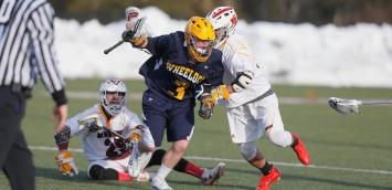 The Wheelock College men's lacrosse team made history on Thursday, earning the program's first win in a 6-3 victory against Anna Maria. (Photo Credit: Wheelock College Athletics)