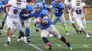 Salve Regina senior tailback Sam Pascale will be one of many players to watch on Saturday versus Western New England. (Photo Credit: Salve Regina Athletics/Alexander Carver)